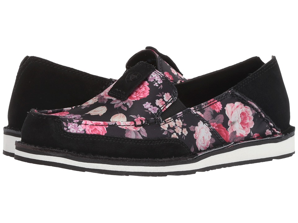 Ariat Cruiser (Black/Satin Floral) Slip-On Shoes