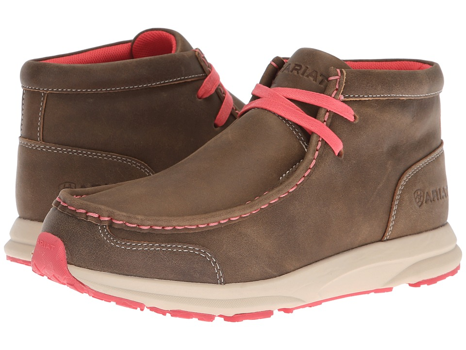 Ariat Spitfire (Brown Bomber/Pink) Women's Lace-up Boots