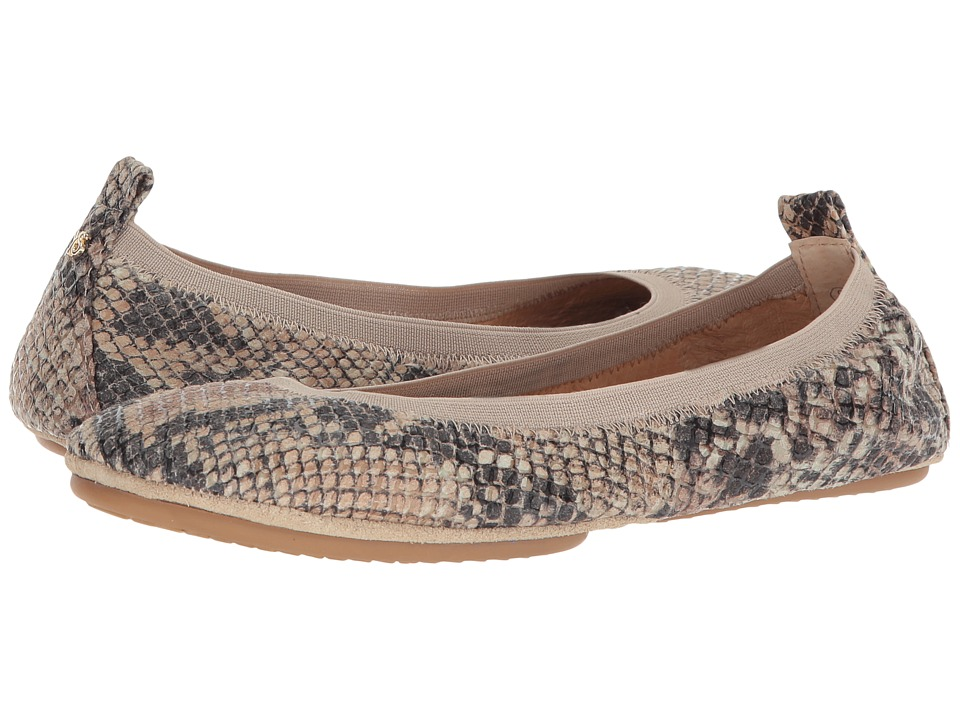 Yosi Samra Samara (Beige Serpent Print Leather) Flats