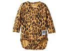 mini rodini Basic Leopard Long Sleeve Bodysuit (Infant)