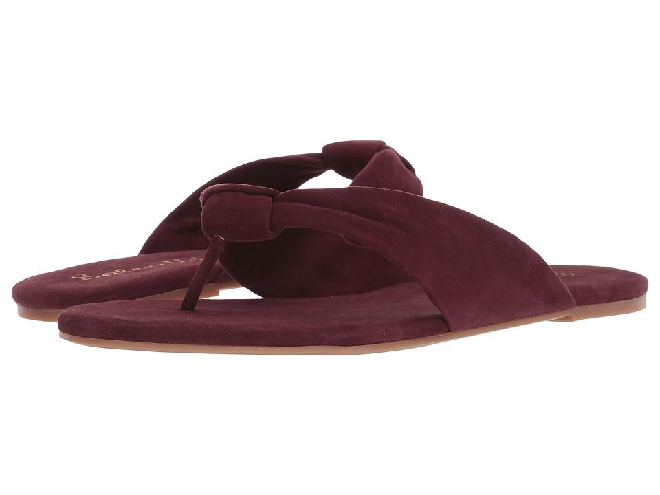 Splendid Bridgette (Deep Plum Kid Suede) Sandals
