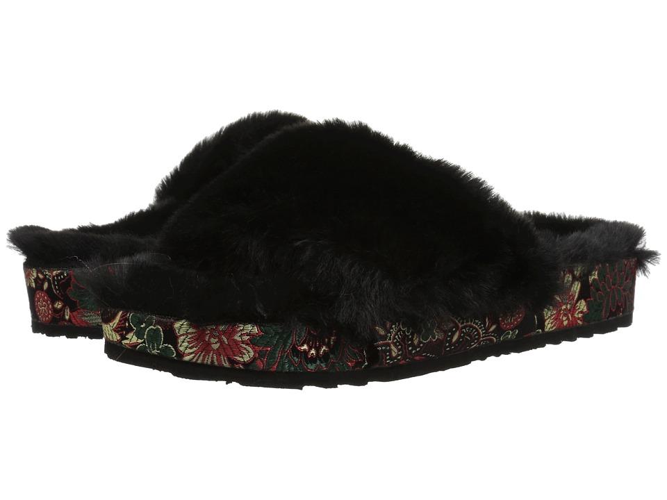 Jessica Simpson Gema (Black/Plush Faux Fur) Women