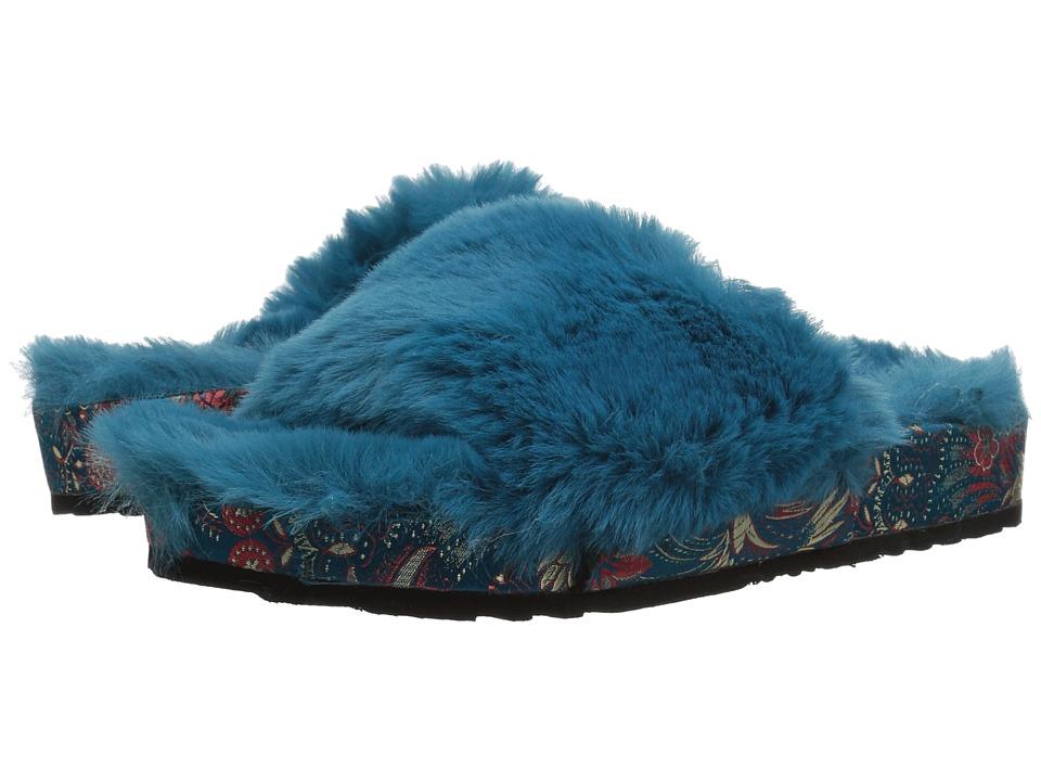 Jessica Simpson Gema (Summer Teal/Plush Faux Fur) Women