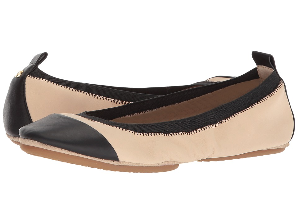 Yosi Samra - Samantha Cap Toe (Nude/Black Leather Cap Toe) Womens Flat Shoes