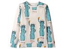 mini rodini Liberty All Over Print Long Sleeve Tee (Infant/Toddler/Little Kids/Big Kids)
