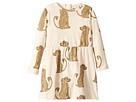 mini rodini Spaniel Long Sleeve Dress (Infant/Toddler/Little Kids/Big Kids)
