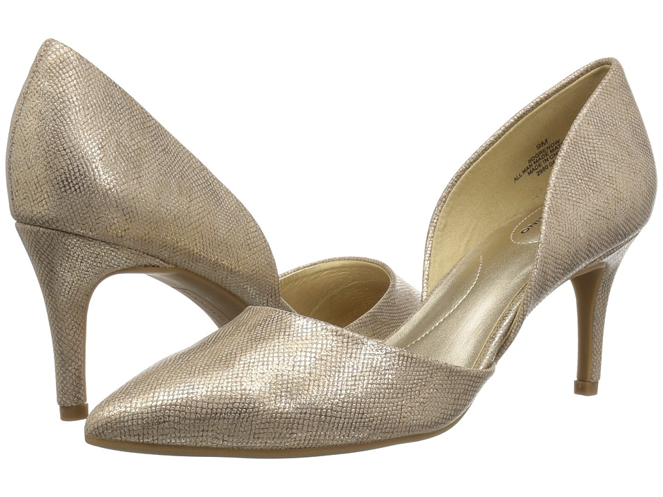 Bandolino Grenow D'Orsay Pump (Gold/Gold Synthetic) Women's Shoes
