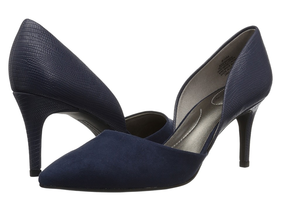 Bandolino Grenow D'Orsay Pump (Navy/Navy Synthetic) Women's Shoes
