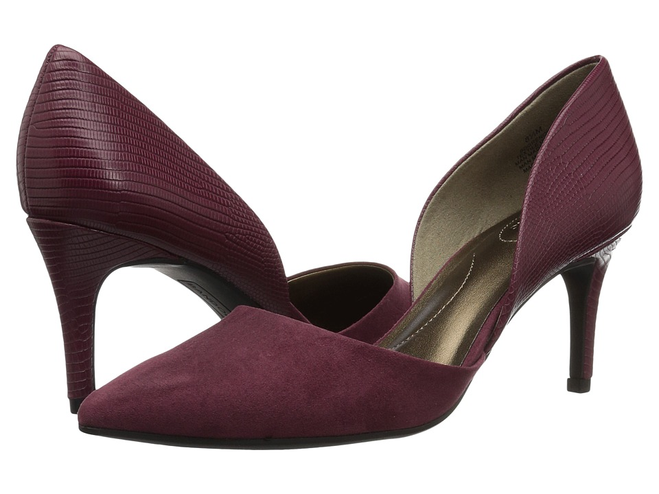 Bandolino Grenow D'Orsay Pump (Dark Wine/Dark Wine Synthetic) Women's Shoes