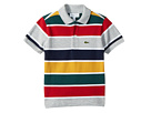 Lacoste Kids Short Sleeve Multicolor Striped Pique Polo (Infant/Toddler/Little Kids/Big Kids)