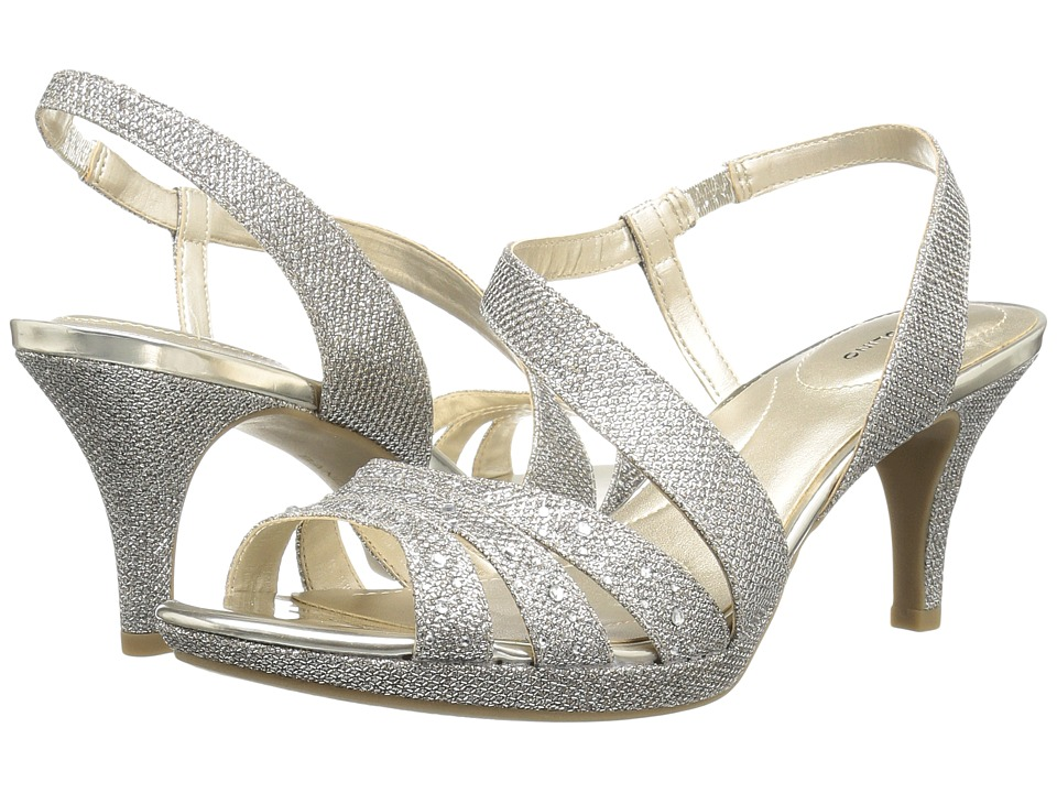 Bandolino Kadshe (Gold Fabric) Women's Dress Sandals