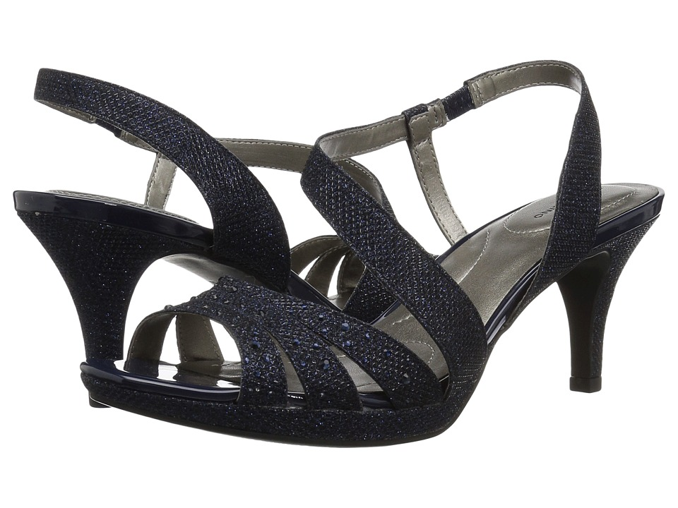 Bandolino Kadshe (Navy Fabric) Women's Dress Sandals