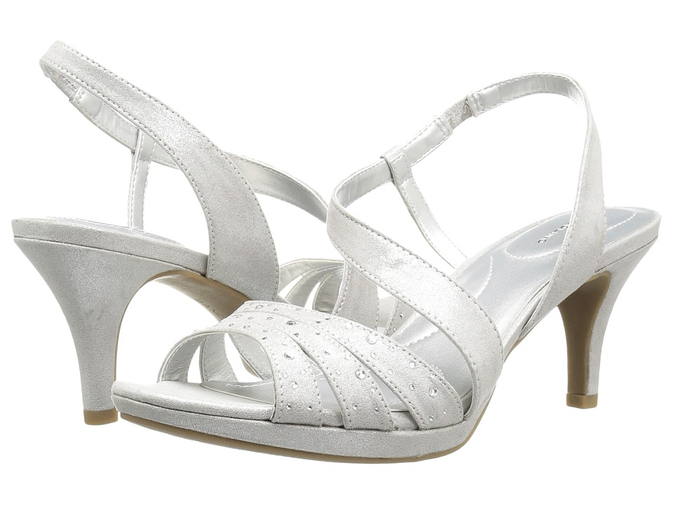 Bandolino Kadshe (Silver Fabric) Women's Dress Sandals