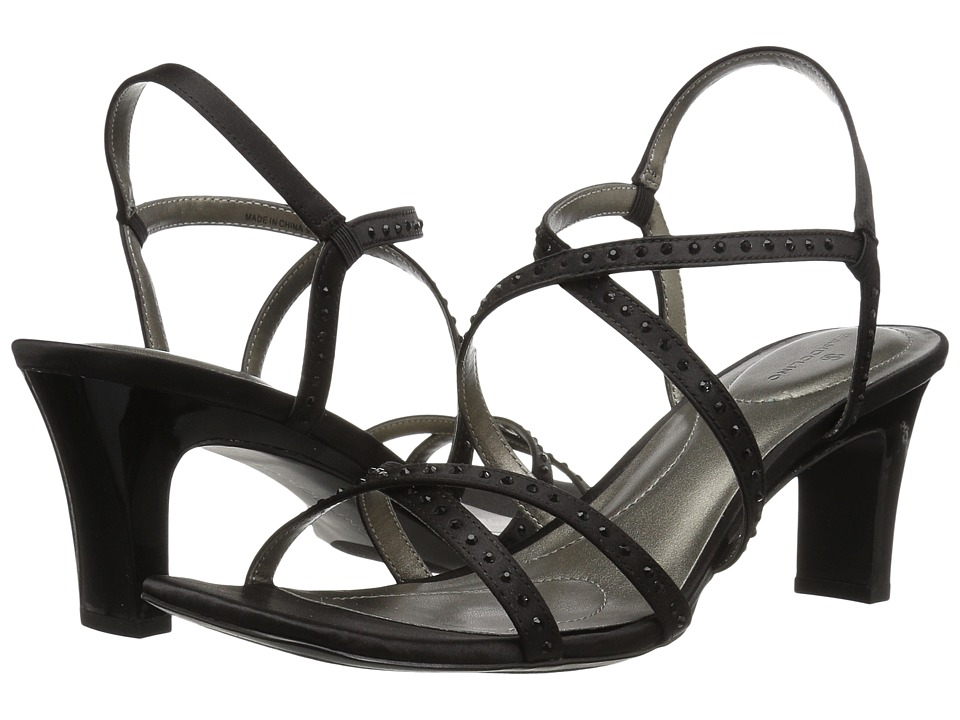 Bandolino Ota (Black Fabric) Slingbacks