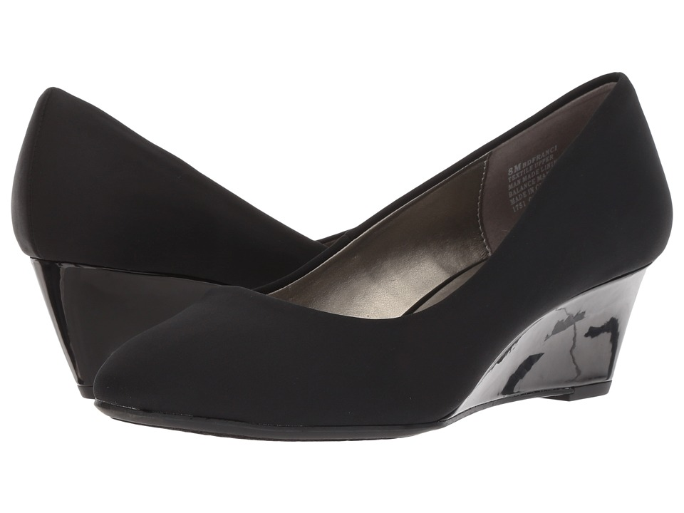 Bandolino Franci (Black Stripe Fabric) Women's Shoes