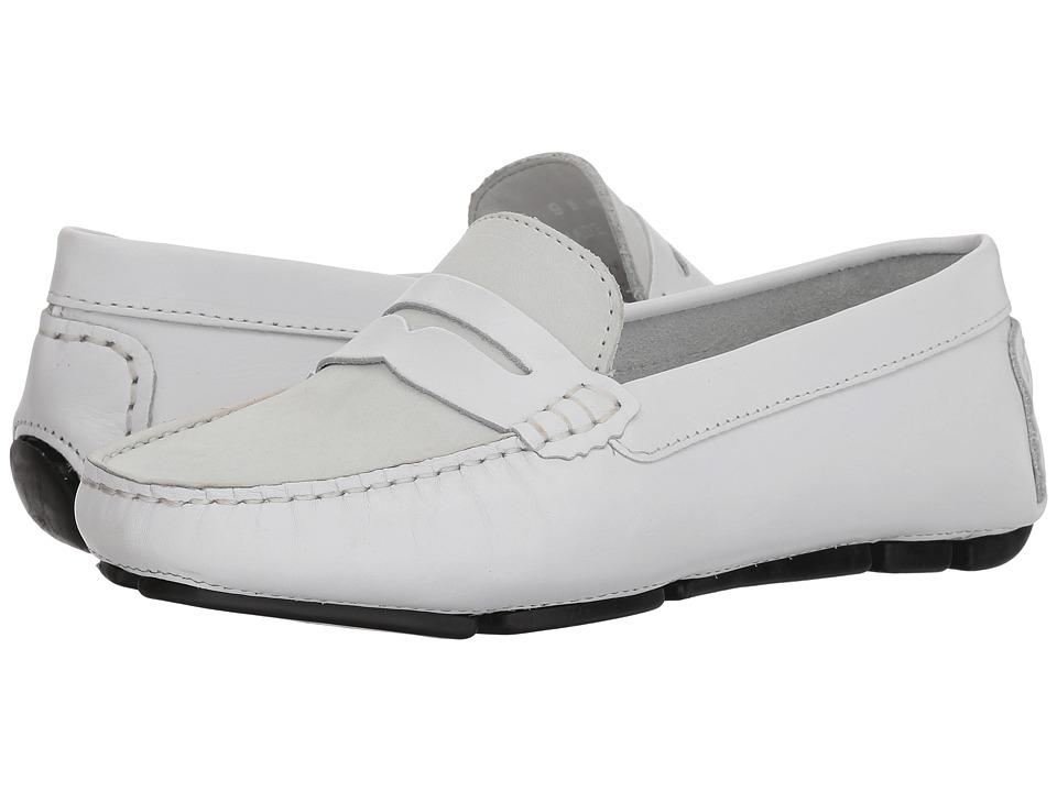 Massimo Matteo Leather Nubuck Penny (Off-White) Slip-On Shoes