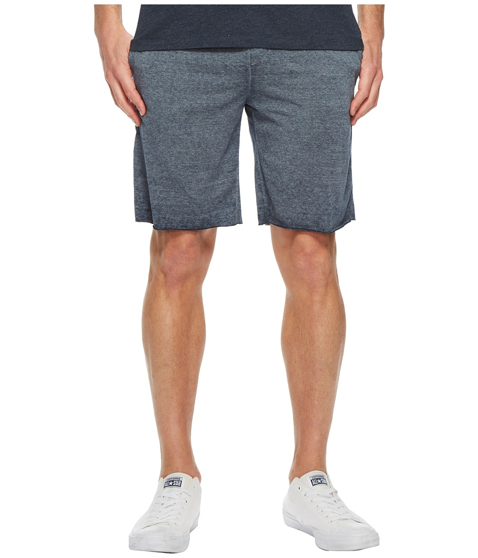 Threads 4 Thought - Burnout Fleece Shorts (Raw Denim) Mens Shorts