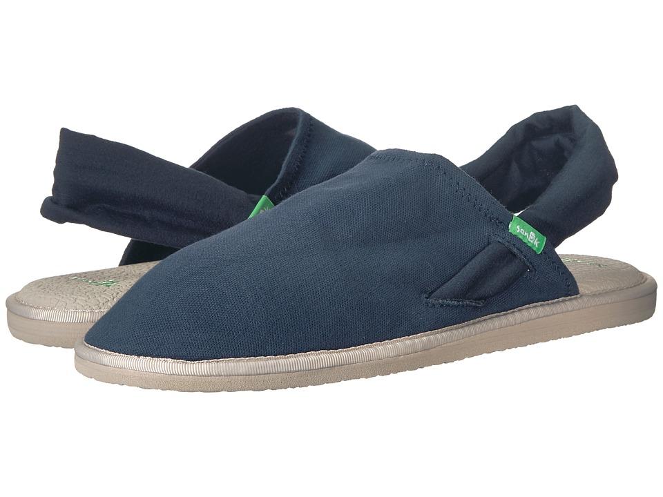 Sanuk Yoga Sling Cruz (Navy) Women's Shoes