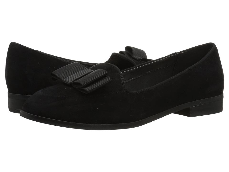 Anne Klein Dakodah (Black/Black Suede) Flats