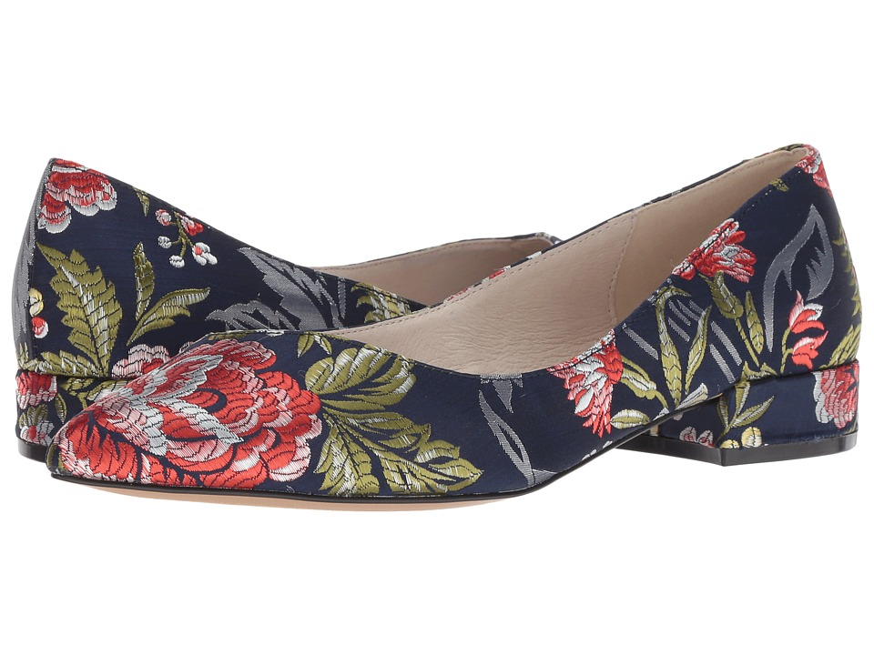 Kenneth Cole New York Ames (Navy Floral Fabric) Women's Shoes