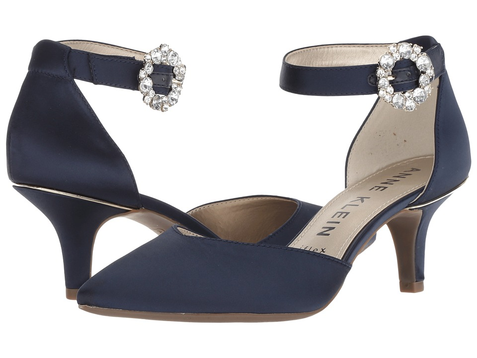 Anne Klein Fantine (Navy Satin) Women's Shoes