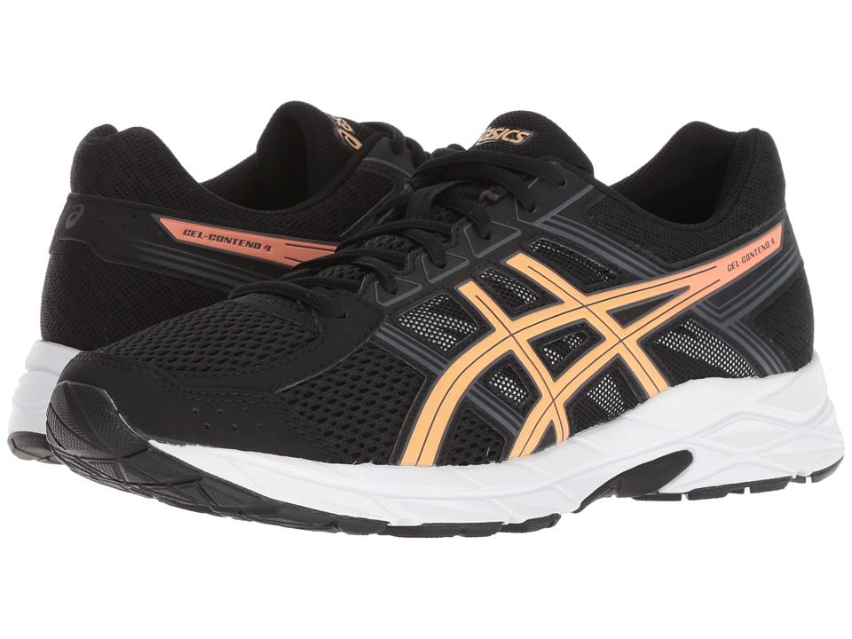 ASICS GEL-Contend 4 (Black/Apricot/Carbon) Women's Running Shoes