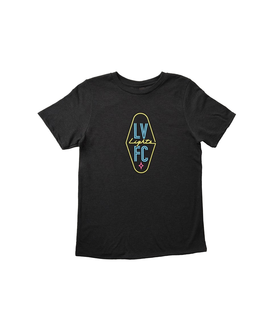 Las Vegas Lights F.C. - Logo Tee (Little Kids/Big Kids) (Black) T Shirt