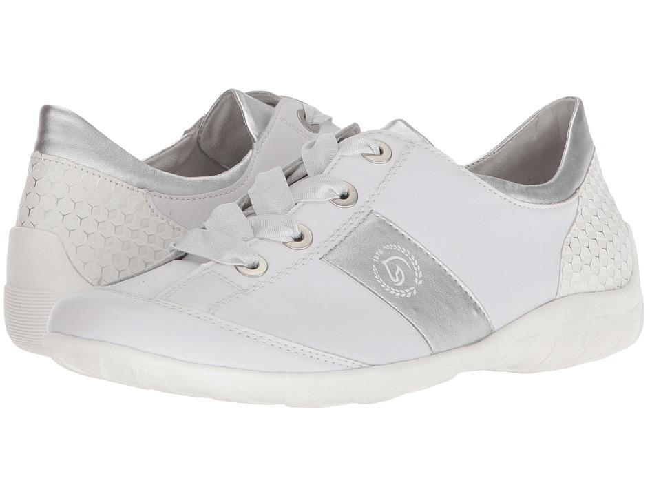 Rieker R3404 Liv 04 (Weiss/Silver/Weiss/Silber) Women's Shoes