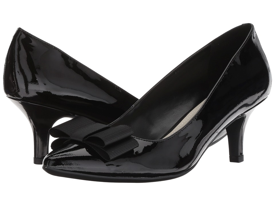 Anne Klein Fia (Black/Black Patent) Women's Shoes