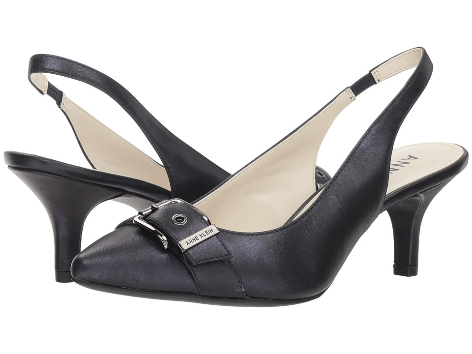 Anne Klein Fenris (Metallic Navy Leather) Women's Shoes