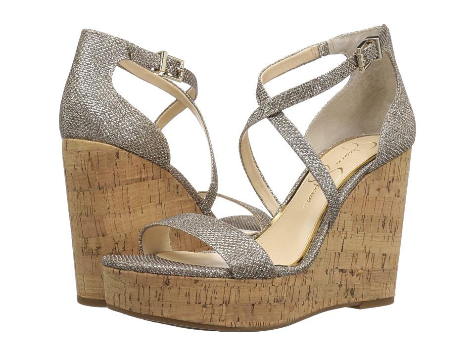 Jessica Simpson Stassi (Gold Jessica Sparkle Mesh) Women's Shoes