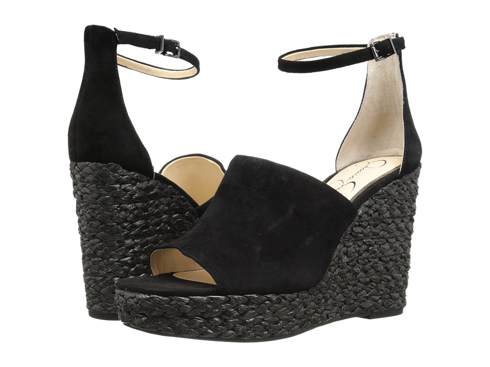 Jessica Simpson Suella (Black Lux Kid Suede) Women's Shoes