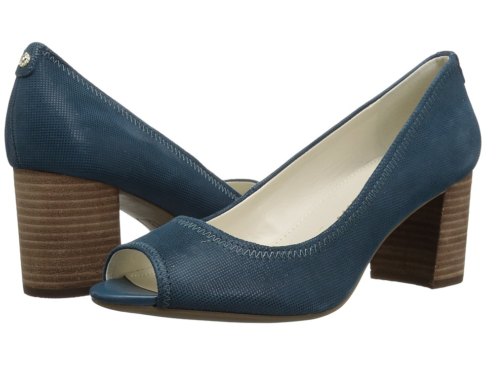 Anne Klein Meredith (Dark Turquoise Leather) Women's Shoes