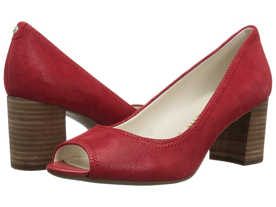 Anne Klein Meredith (Medium Red Leather) Women's Shoes