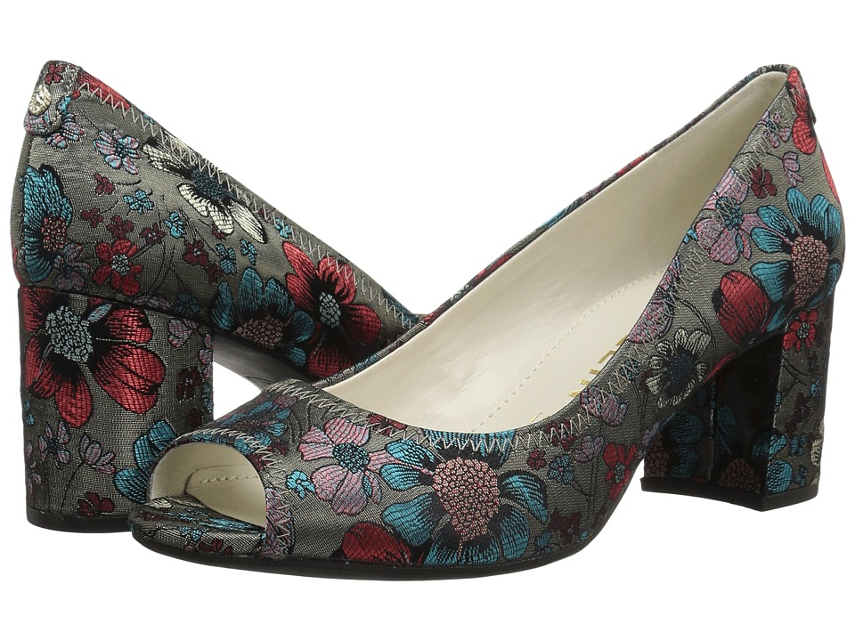 Anne Klein Meredith (Taupe Turquoise/Red Fabric) Women's Shoes