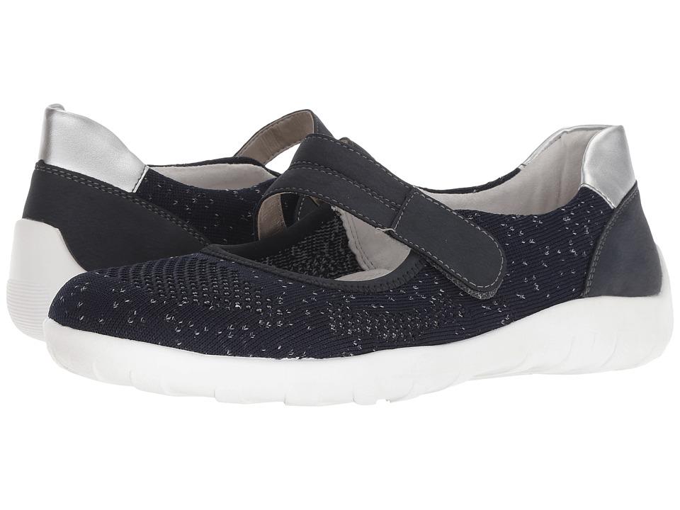 Rieker R3506 Liv 06 (Pazifik/Pazifik/Silver) Women's Shoes