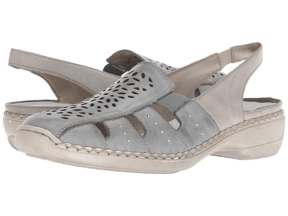 Rieker - 41390 Doris 90 (Sky/Ice) Womens  Shoes