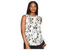 Ellen Tracy Sleeveless Ruched Blouse