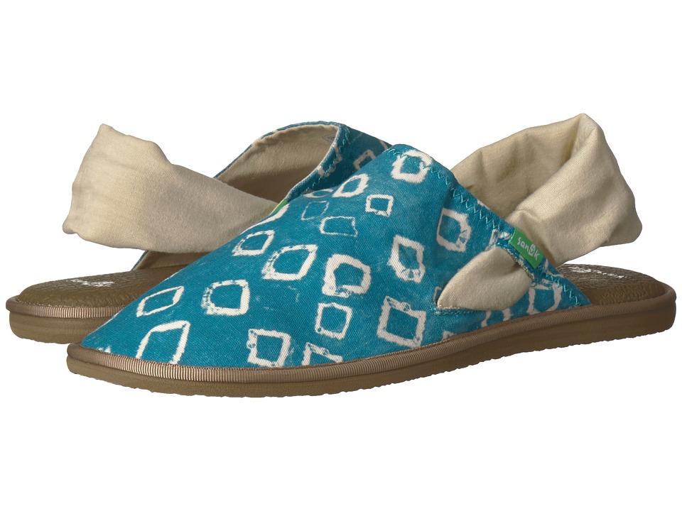 Sanuk Yoga Sling Cruz Signature (Enamel Blue Print) Slip-On Shoes