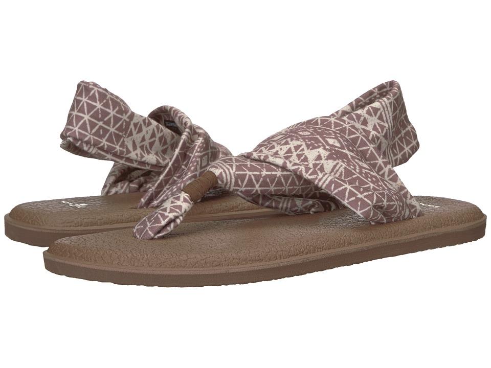 Sanuk Yoga Sling 2 Prints (Deep Taupe Ojai Folk) Sandals