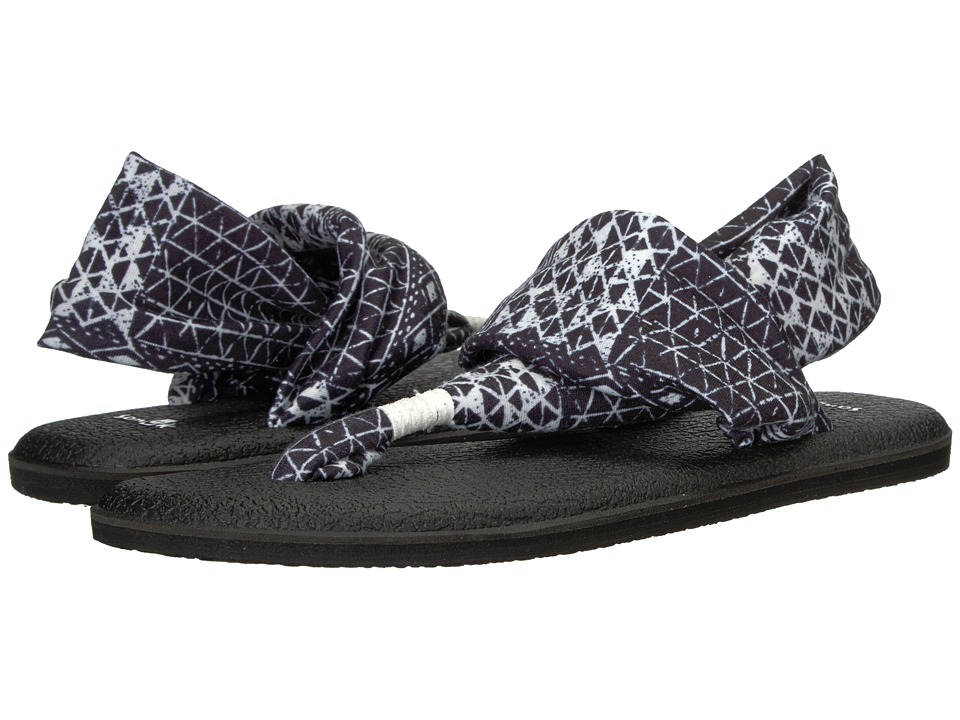 Sanuk Yoga Sling 2 Prints (Black Ojai Folk) Sandals