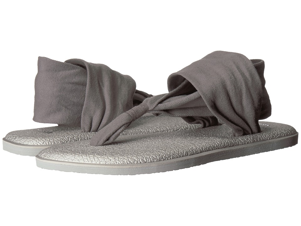 Sanuk Yoga Sling 2 Metallic (Charcoal/Metallic Silver) Sandals