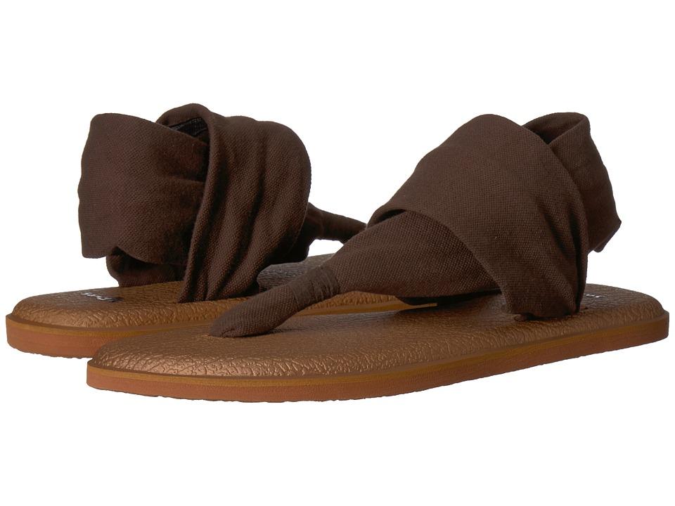Sanuk Yoga Sling 2 Metallic (Chocolate Brown/Metallic Bronze) Sandals