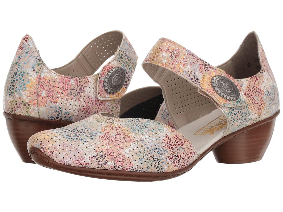 Rieker - 43754 Mirjam 54 (Perle/Multi) Womens Slip on  Shoes