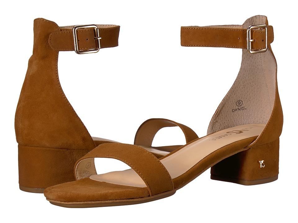 60s Shoes, Boots | 70s Shoes, Platforms, Boots Yosi Samra - Daniel Bone Brown Suede Womens Dress Sandals $118.00 AT vintagedancer.com