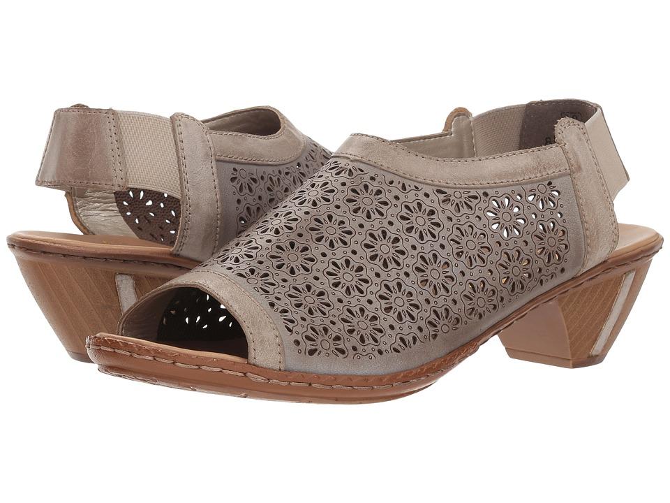 Rieker 46766 (Steel/White Kiesel) Women's Shoes