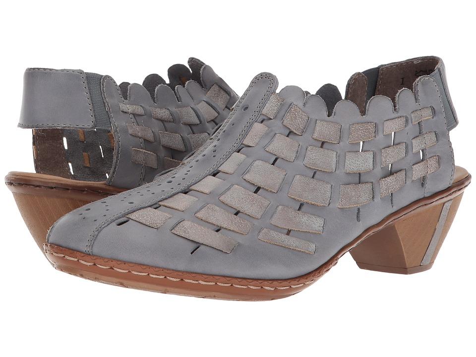 Rieker 46778 Sina 78 (Azur/Grey) Slip-On Shoes