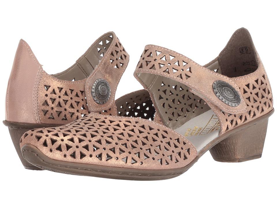 Rieker - 49766 Mirjam 66 (Rose/Rose Gold) Womens Slip on  Shoes