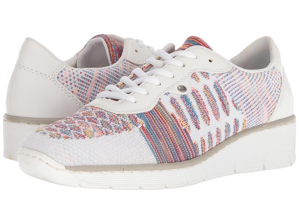 Rieker 537P4 Doris P4 (Weiss/Multi/Weiss) Women's Shoes