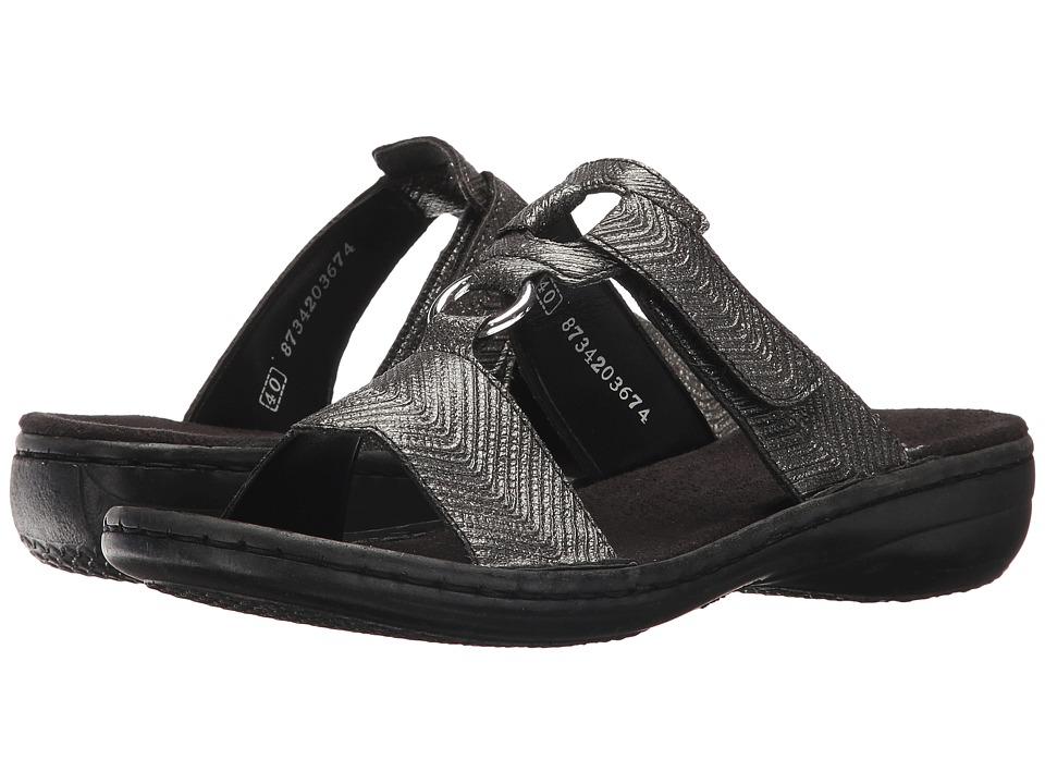 Rieker 608A0 Regina A0 (Schwarz/Silber) Women's Shoes